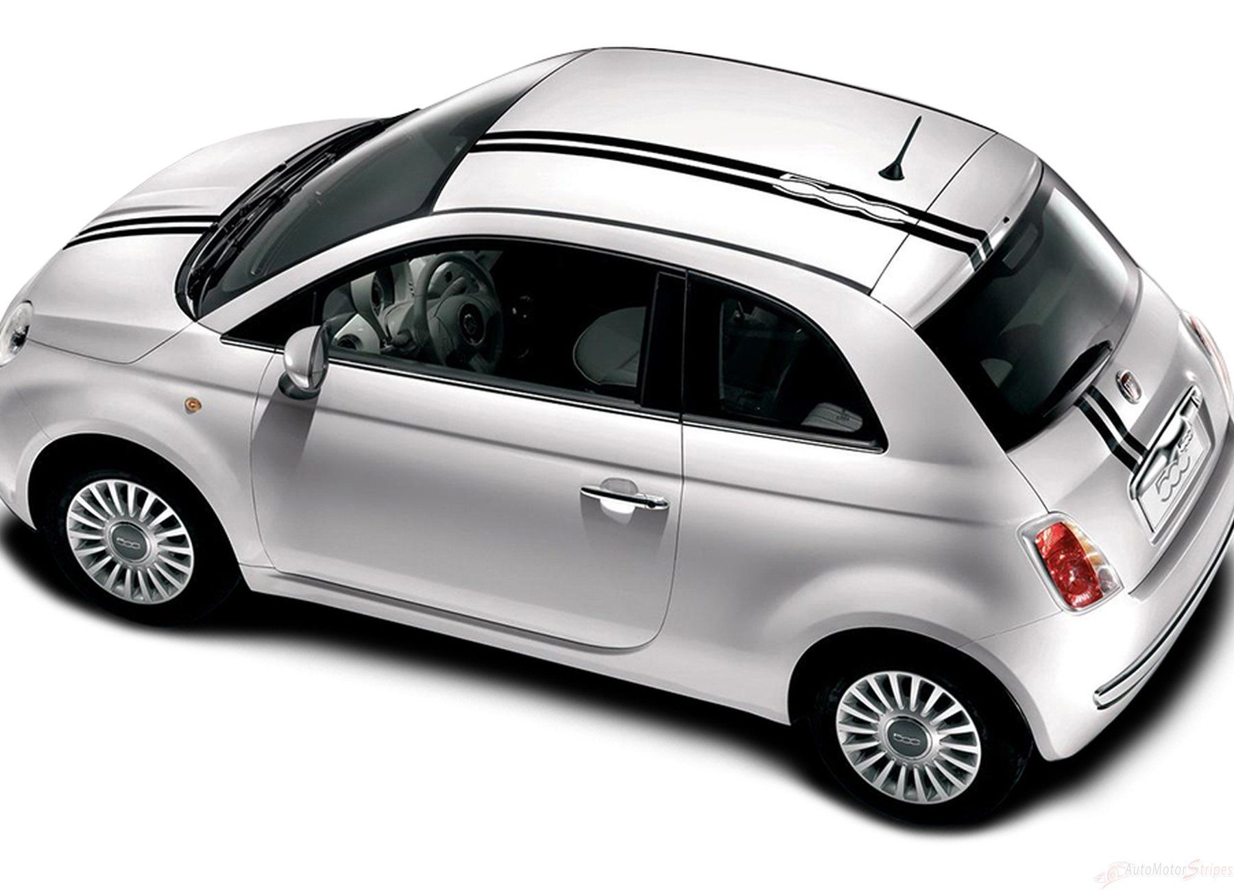 2007 2016 Fiat 500 Euro Rally Hood Roof Trunk Racing Stripes Vinyl