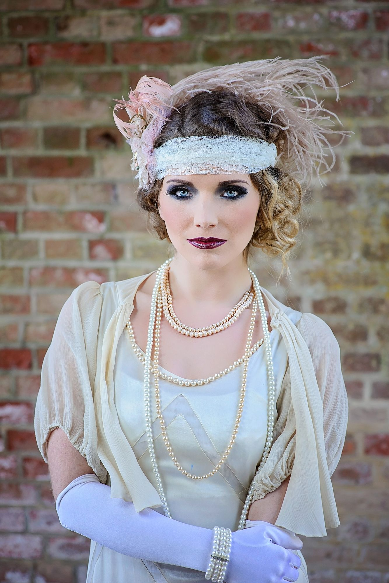 Vintage inspired us hairstyle bride wedding prom the