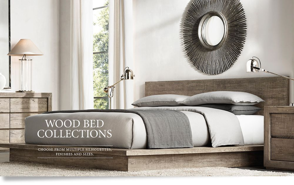 Wood Bed Collections Bedroom Pinterest Wood beds, Woods and