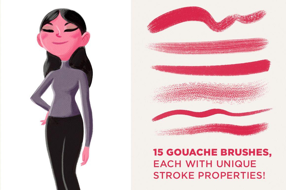 Kyle's Gouache Brushes for Photoshop - Brushes