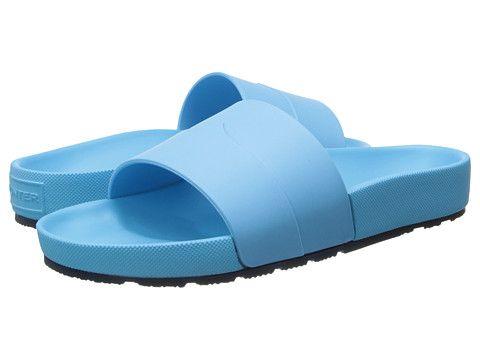 Womens Sandals Hunter Moustache Slide Sky Blue/Bright Navy