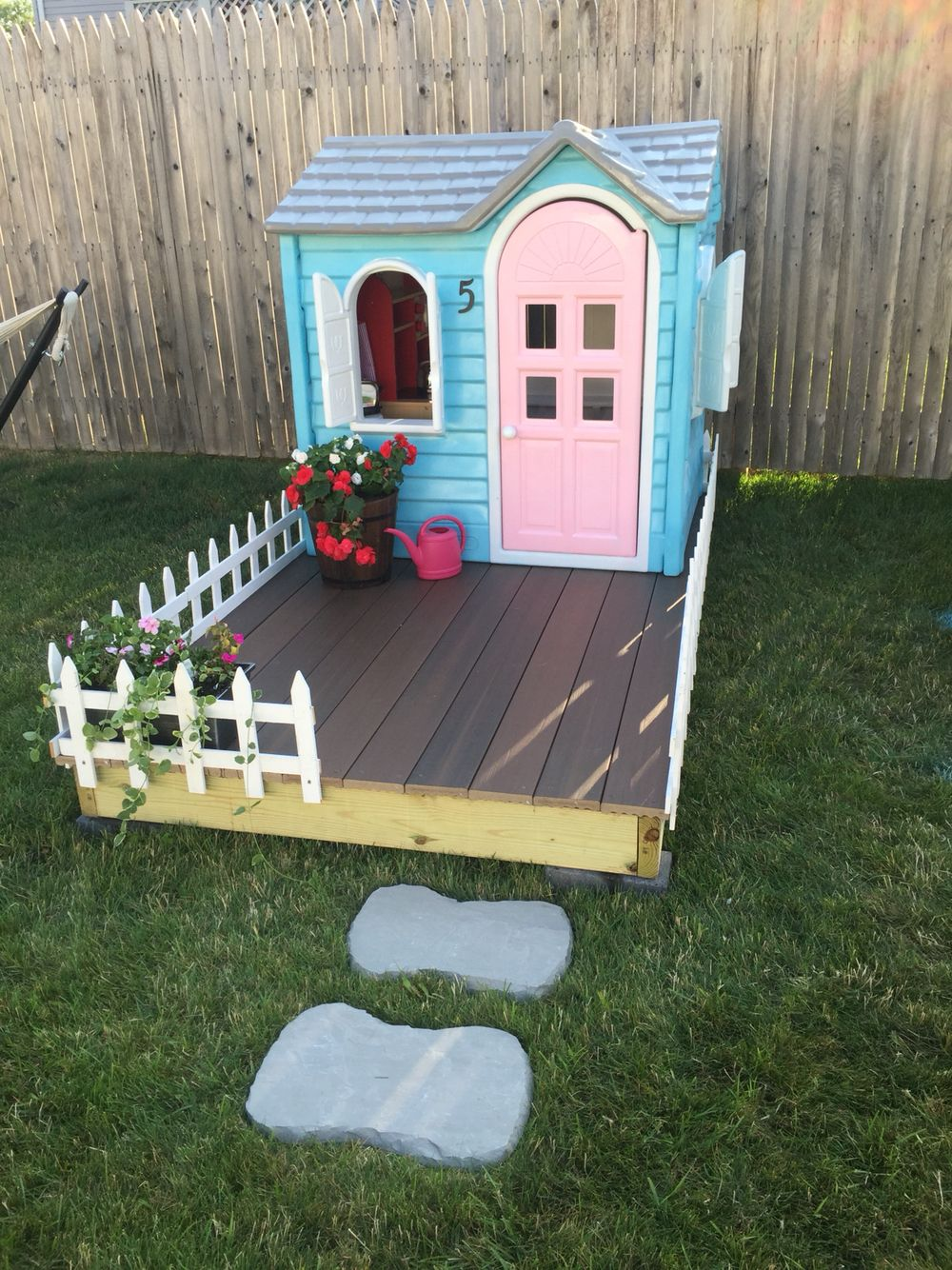 Little Tikes Playhouse Makeover All You Need Is A Few Cans Of Spray Paint And Lot Patience Did This Fun Project Over Weekend Well Worth It
