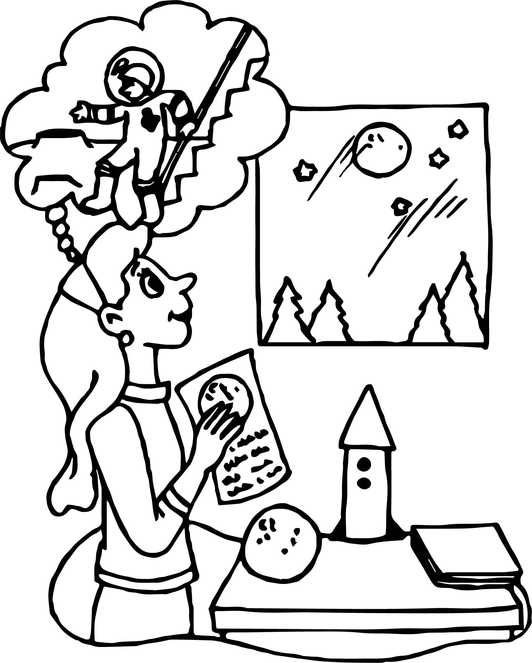 Awesome Astronaut Girl Friend Coloring Page