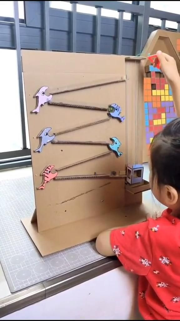 Cardboard craft toy for kids