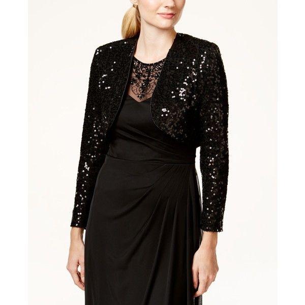 Black sheath dress with bolero jacket
