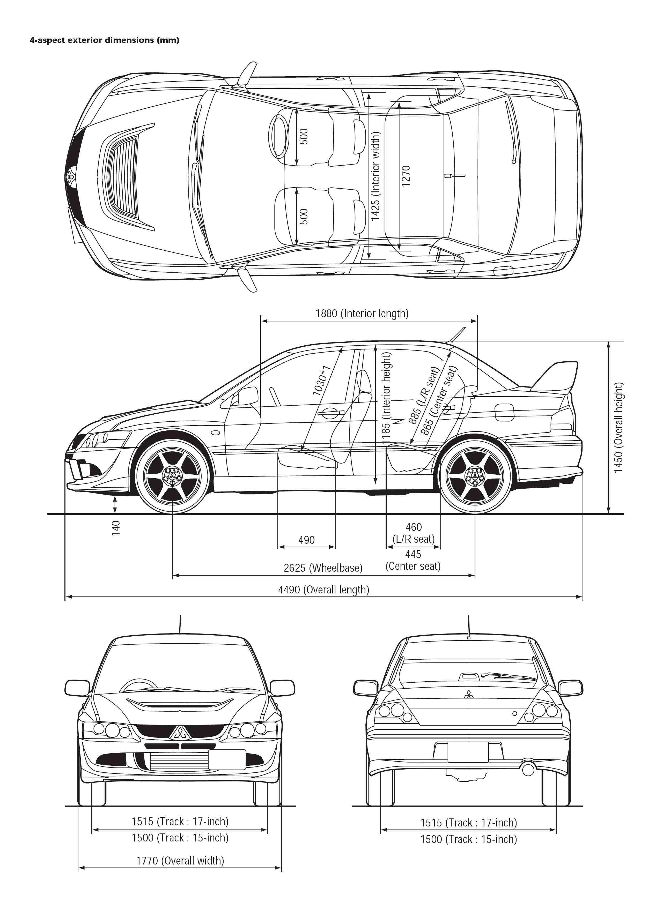 Mitsubishi Lancer Evolution Viii Blueprint Download Free
