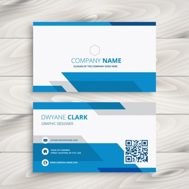 azul e branco cartão de empresa Business cards, Corporate - id card psd template