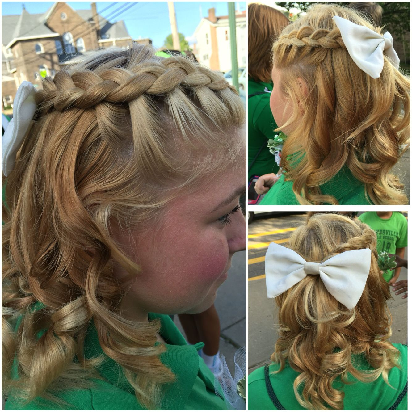 Cute Half Up Half Down Dutch Braid Hair Do For Medium To Long Hair