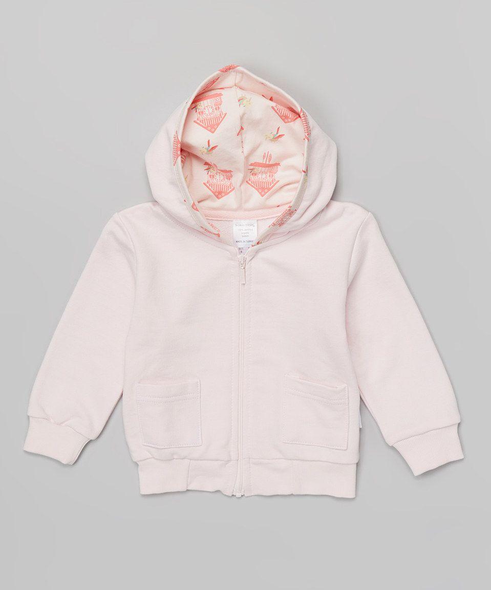 Pink Lightweight Organic Hoodie - Infant, Toddler & Girls by Broken Tricycle #zulily #zulilyfinds