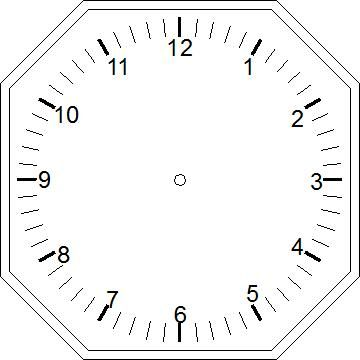 A Clock Template That Can Be Used As A Craft With The Students