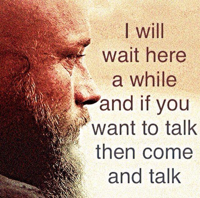 Ragnar lothbrok talking to his daughter.
