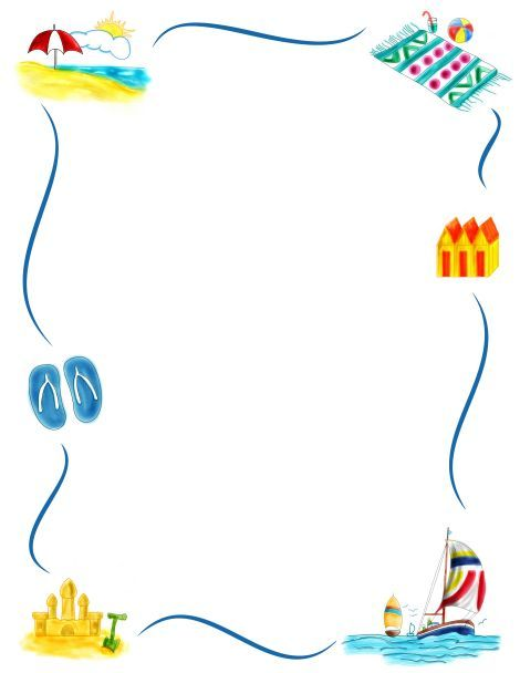 Pin by Szabó Jolán on Nyár/Summer Pinterest Clip art - free page borders for microsoft word