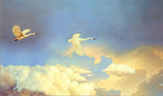 """""""Circus Memories"""" by Michael Parkes ...just swans 