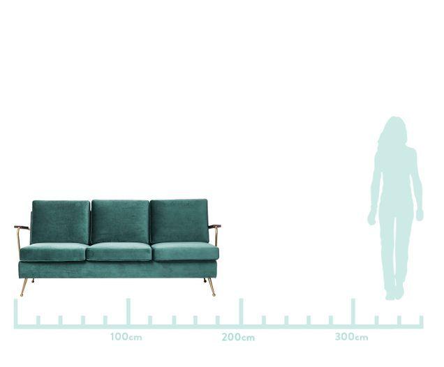 Samt Sofa Gamble 3 Sitzer In 2020 Couch Decor Furniture