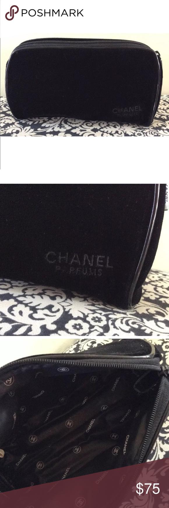 Chanel velvet make up bag Makeup bag, Chanel, Chanel bag