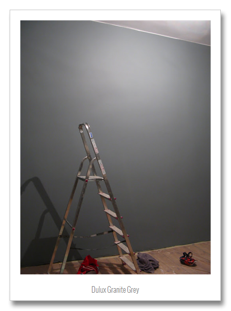 Paint Combinations Grey Colors Dulux Granite Feature Wall Painted Hallway