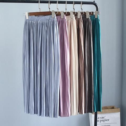 482fe9d4a Large amount of good quality in the long section of pleated half skirt women  6063