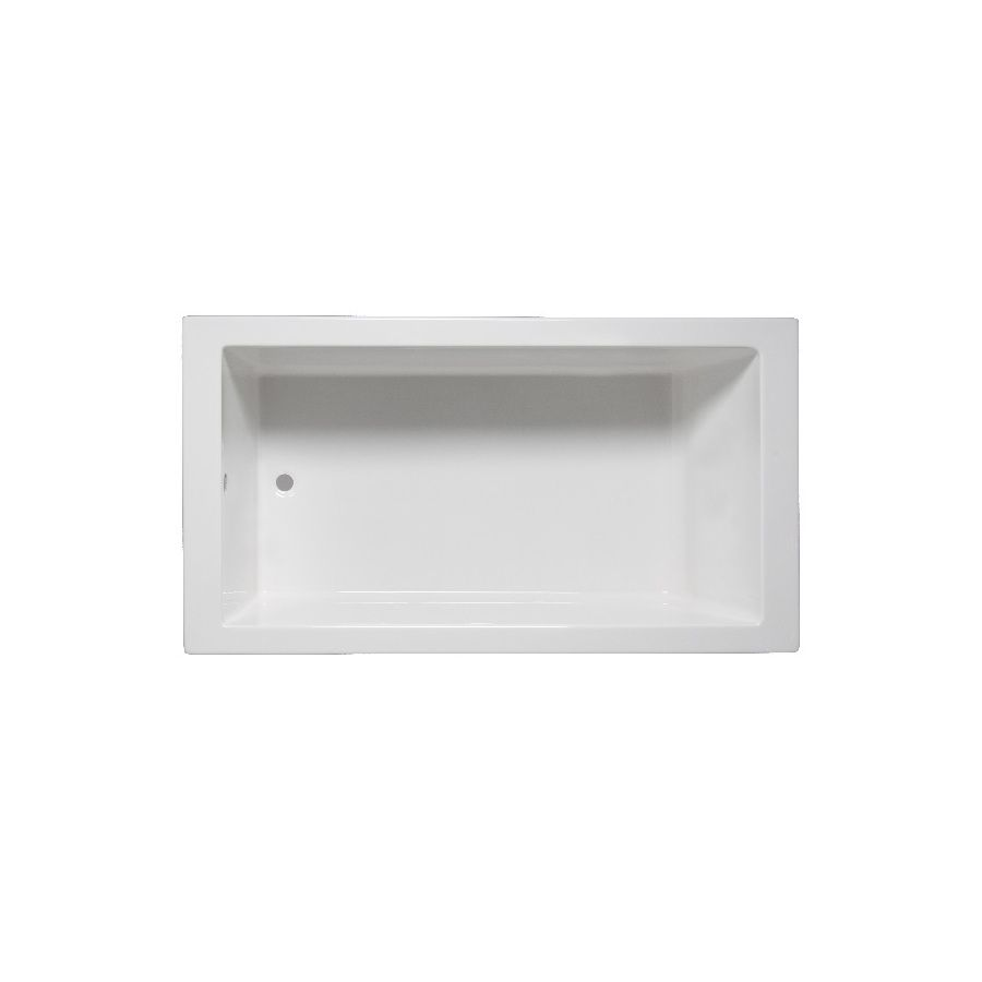 Laurel Mountain Parker 5 59.75 In White Acrylic Drop In Bathtub With  Reversible Drain