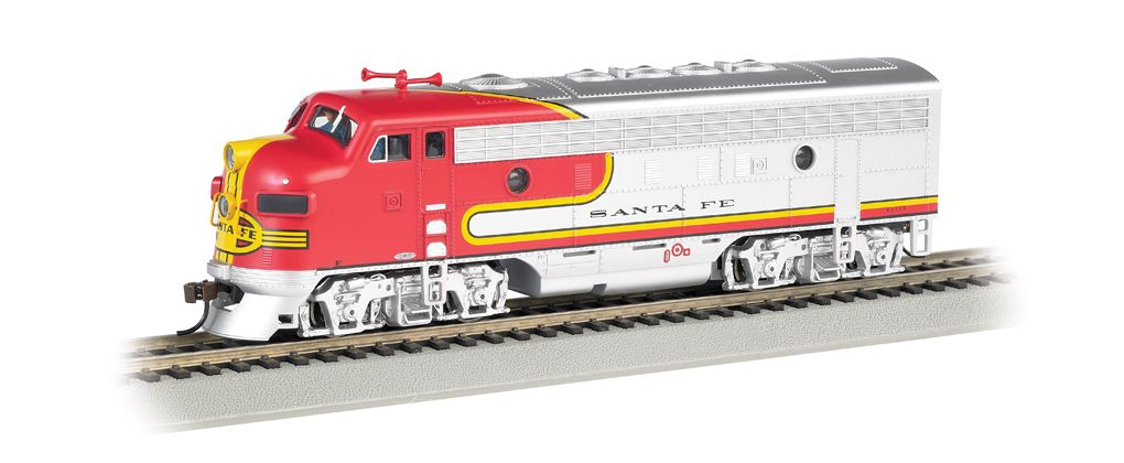 Santa Fe Red Silver F7a Dcc Sound Value Ho Scale Bachmann Model Trains Diesel Locomotive Diesel