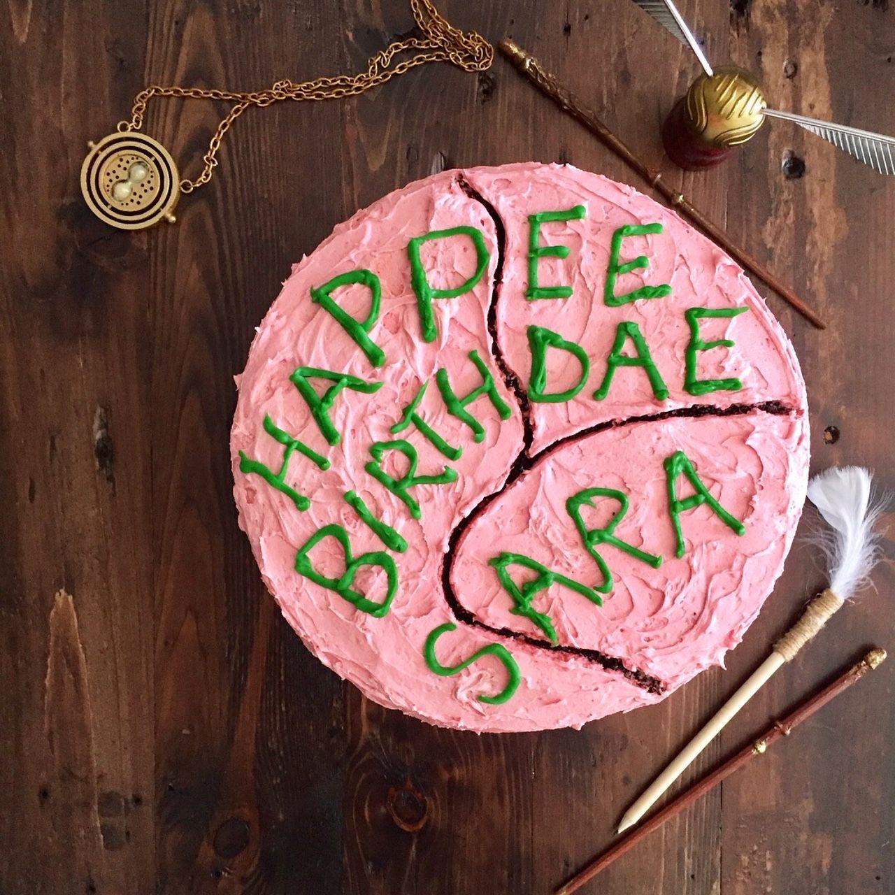 Harry Potter Birthday Cake Hagrids Cake To Harry Potter Harry