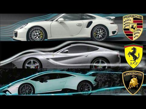 Ferrari Vs Lamborghini Vs Porsche Aerodynamics Porsche Ferrari Lamborghini