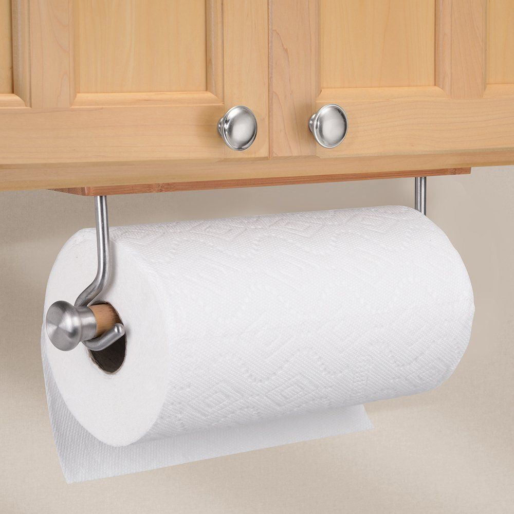 Details About Paper Hand Towel Holder For Kitchen Wall Mount Hanging Bamboo Stainless Steel Towel Holder Paper Towel Holder Towel Holder Bathroom