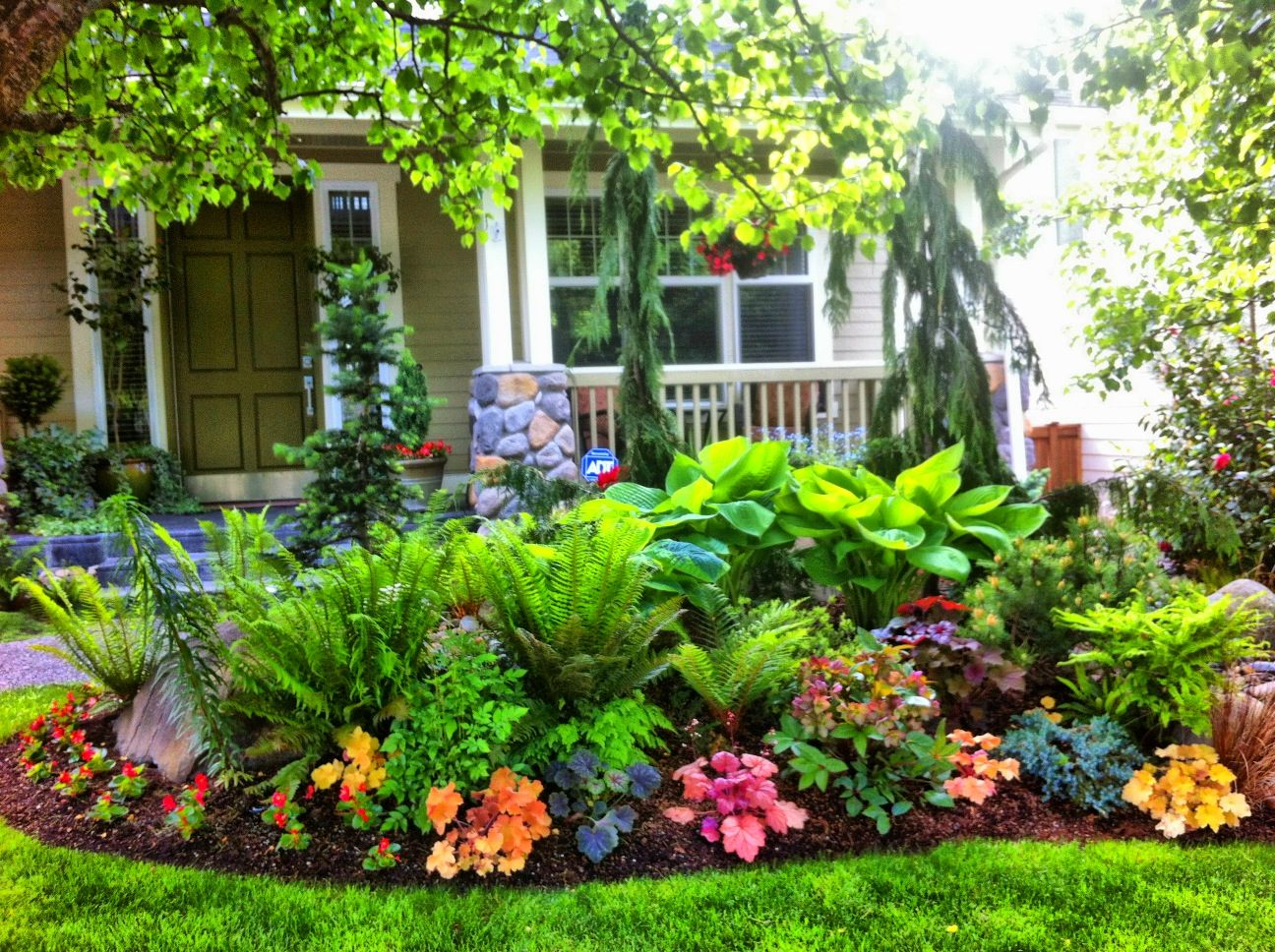 A photo of a pintrest user titled our front yard garden for Landscape design jobs