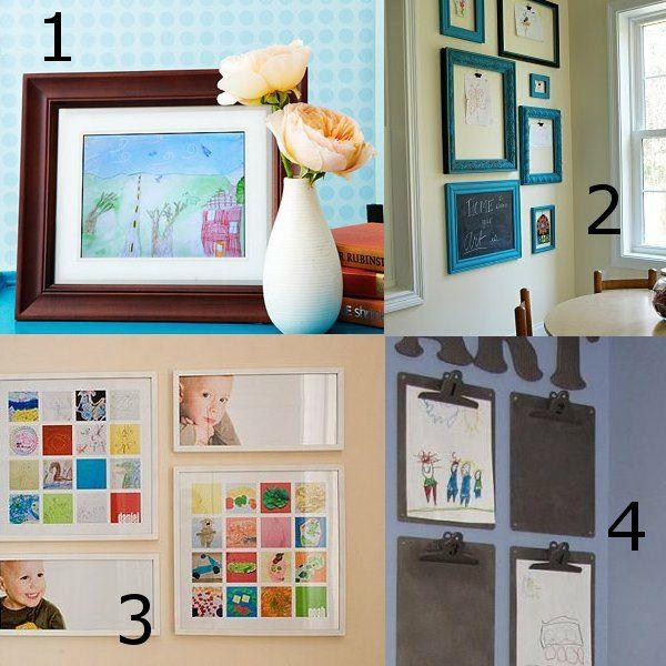 kinderbilder kreativ aufh ngen ideen wanddeko pinterest wandgestaltung ideen kinder. Black Bedroom Furniture Sets. Home Design Ideas