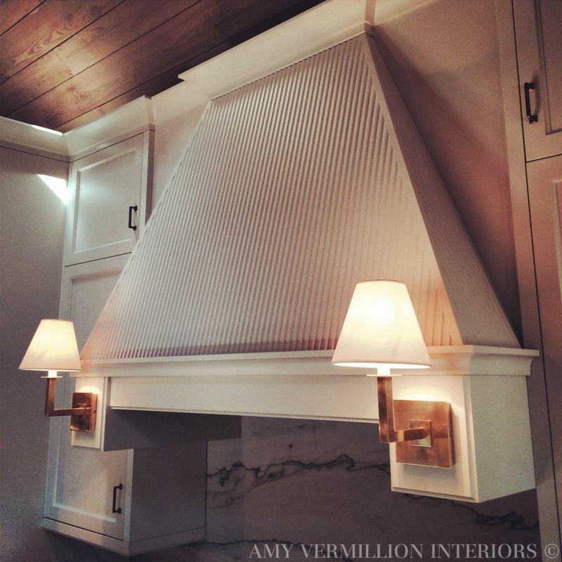 Amy Vermillion Interiors Sconces On Hood Full Height Quartzite Backsplash Amy Vermillion