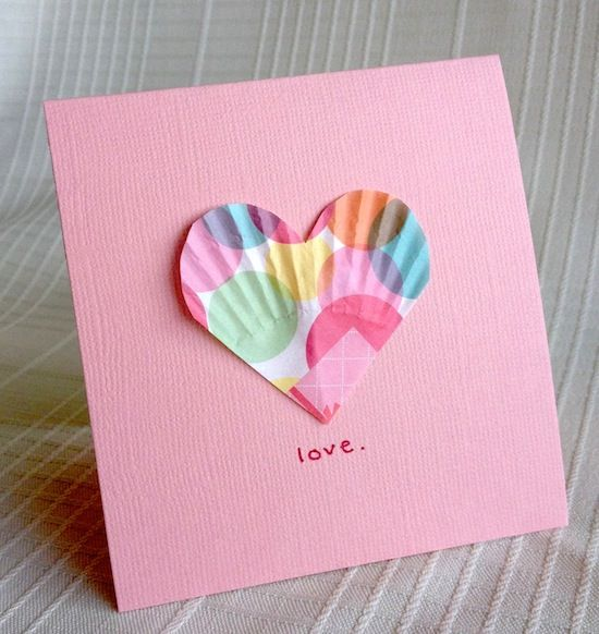 10 Cute Crafts Made From Cupcake Liners – Cupcake Valentine Card