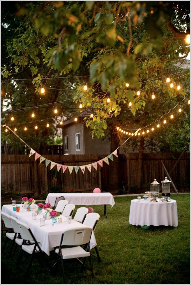 Backyard party ideas for adults graduation party ideas for Decorating ideas for outdoor engagement party