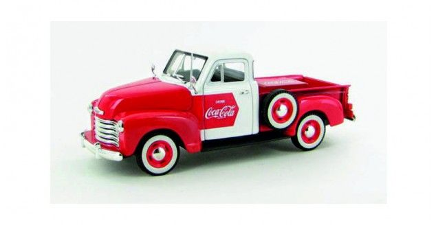 Coca-Cola 1953 Chevy Pickup Truck Red White 1:32 Scale Diecast Model Motorcity Classics 440664