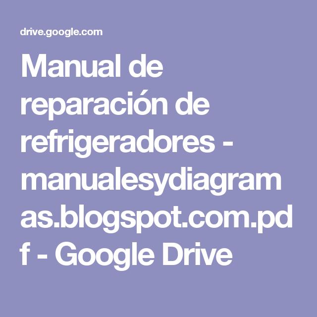 Manual De Reparaci 243 N De Refrigeradores