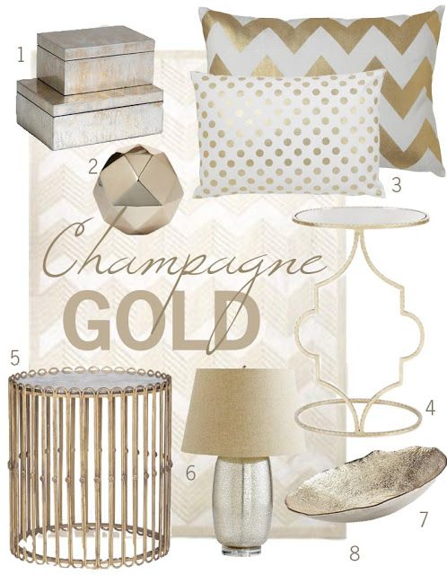 Is Champagne Gold The New Brass Champagne Living Room
