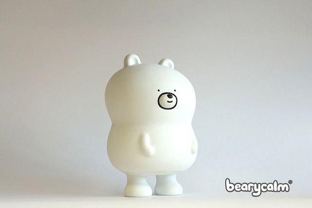 Final production sample in white - bearycalm figure