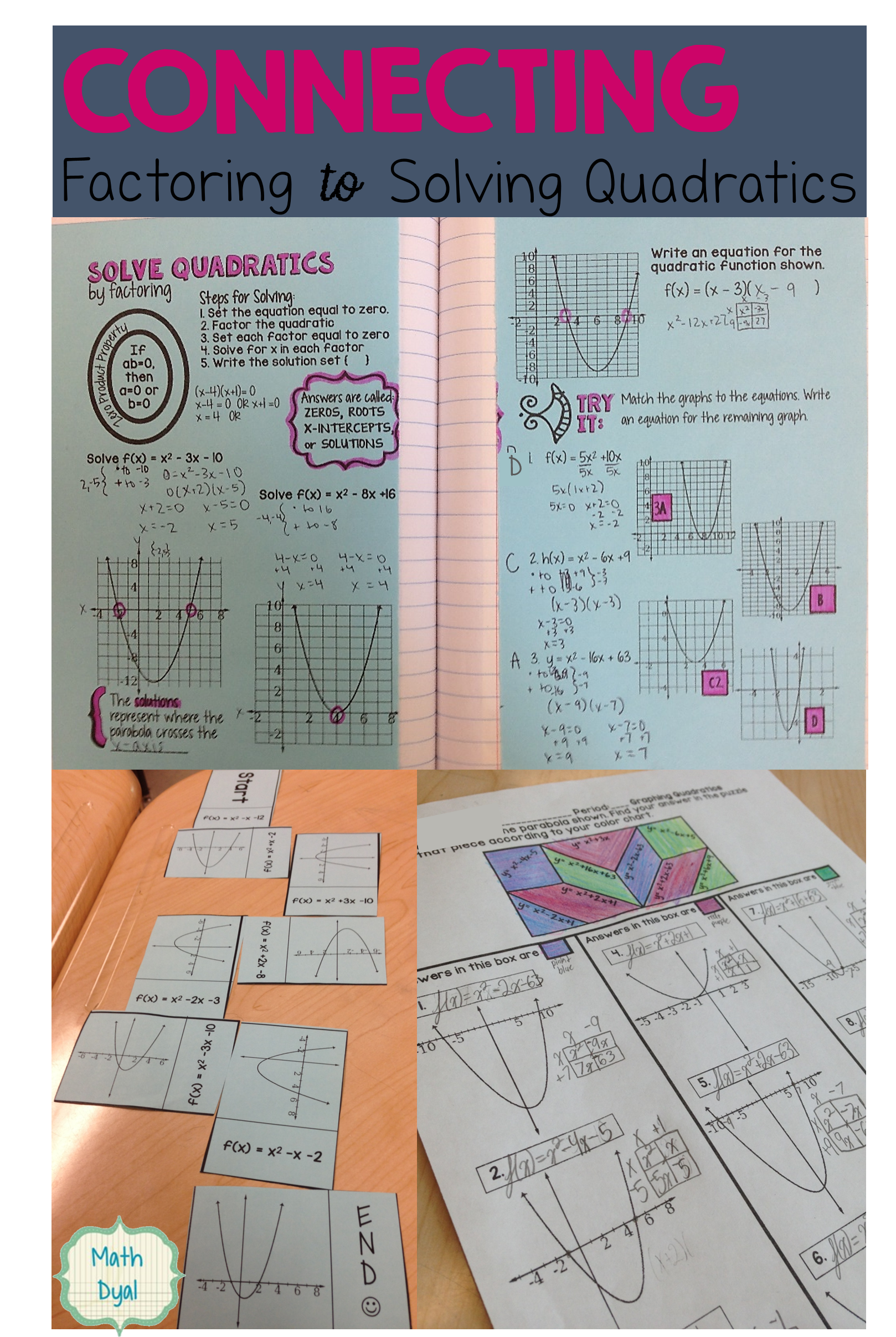 Solve Quadratic Equations By Factoring With These Fun