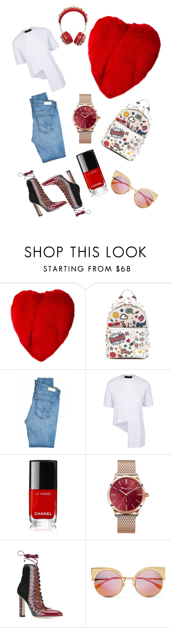 """Untitled #3520"" by fashionhypedaily ❤ liked on Polyvore featuring Yves Saint Laurent, Anya Hindmarch, AG Adriano Goldschmied, Thomas Sabo, Paula Cademartori, Fendi and Dolce&Gabbana"