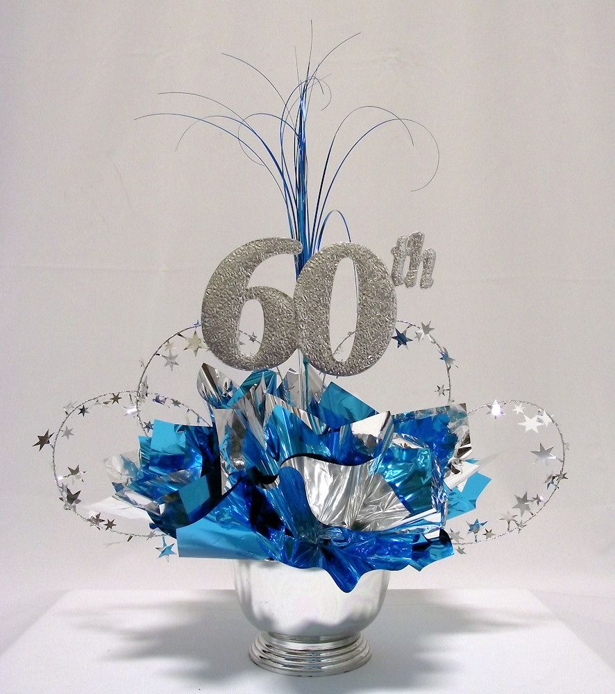 Birthday Party Table Decorations 60th Milestone Centerpiece More