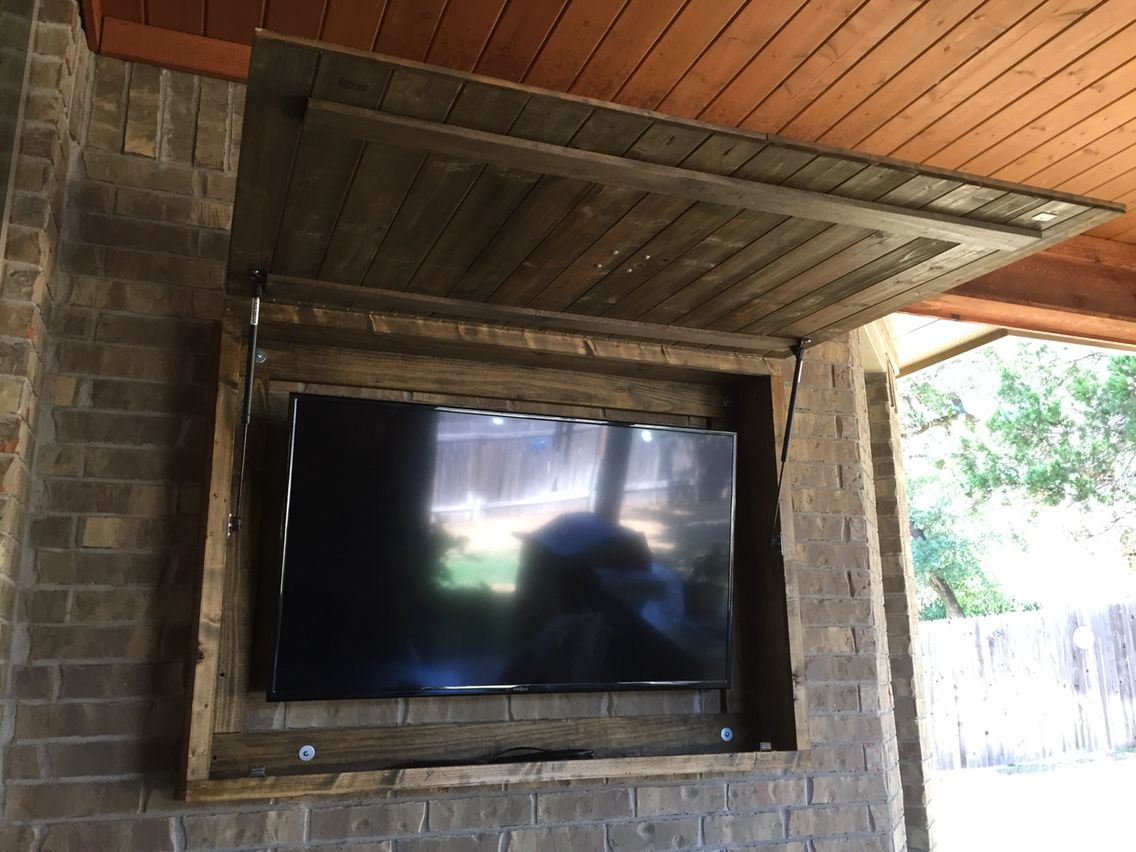 Outdoor tv backyard tv tv custom tv tv lift tv enclosure - Outdoor Tv Cabinet More