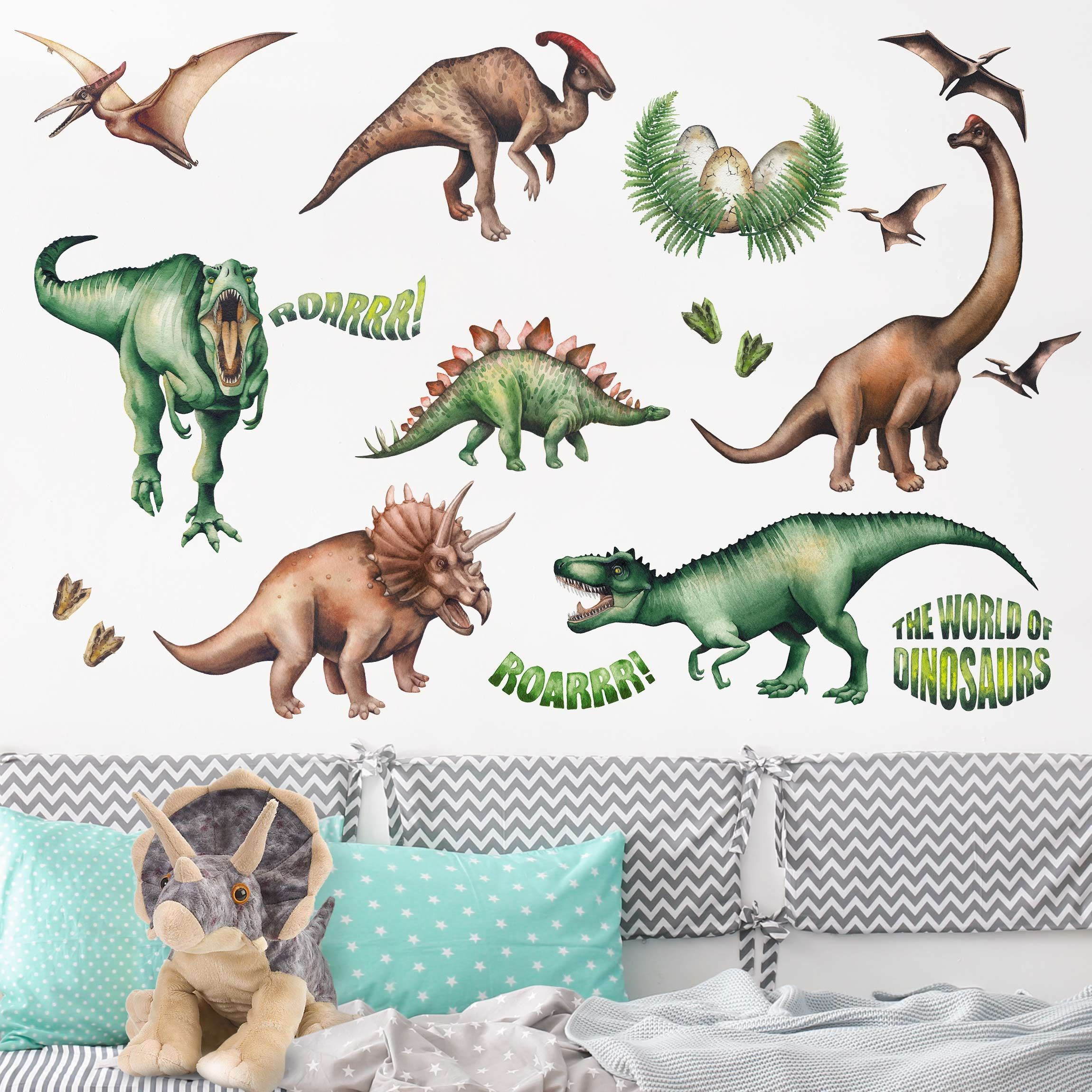 wandtattoo die welt der dinosaurier kinderzimmer ideen fur kleine zimmer designer wanddekoration weltkarte