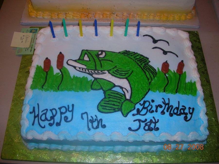 Fish Themed Birthday Cake Fishing Cake Easy Birthday Will