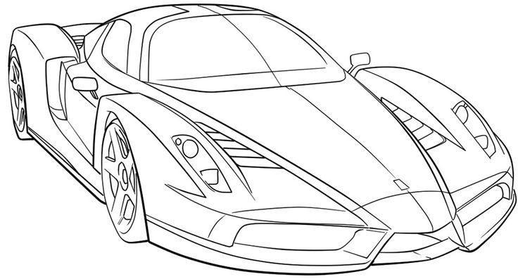 Sports coloring pages for adults ~ Ferrari Sport Car High Speed Coloring Page Ferrari car ...