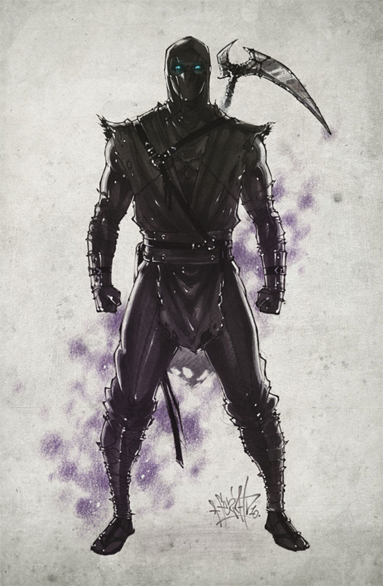 Noob Saibot. 2010 by Fezat1 on DeviantArt Mortal kombat