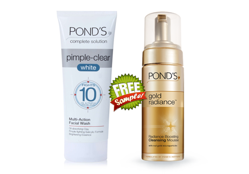 Free Pond S Gold Radiance Or Acne Clear White Sample Clear Acne Facial Wash Radiance