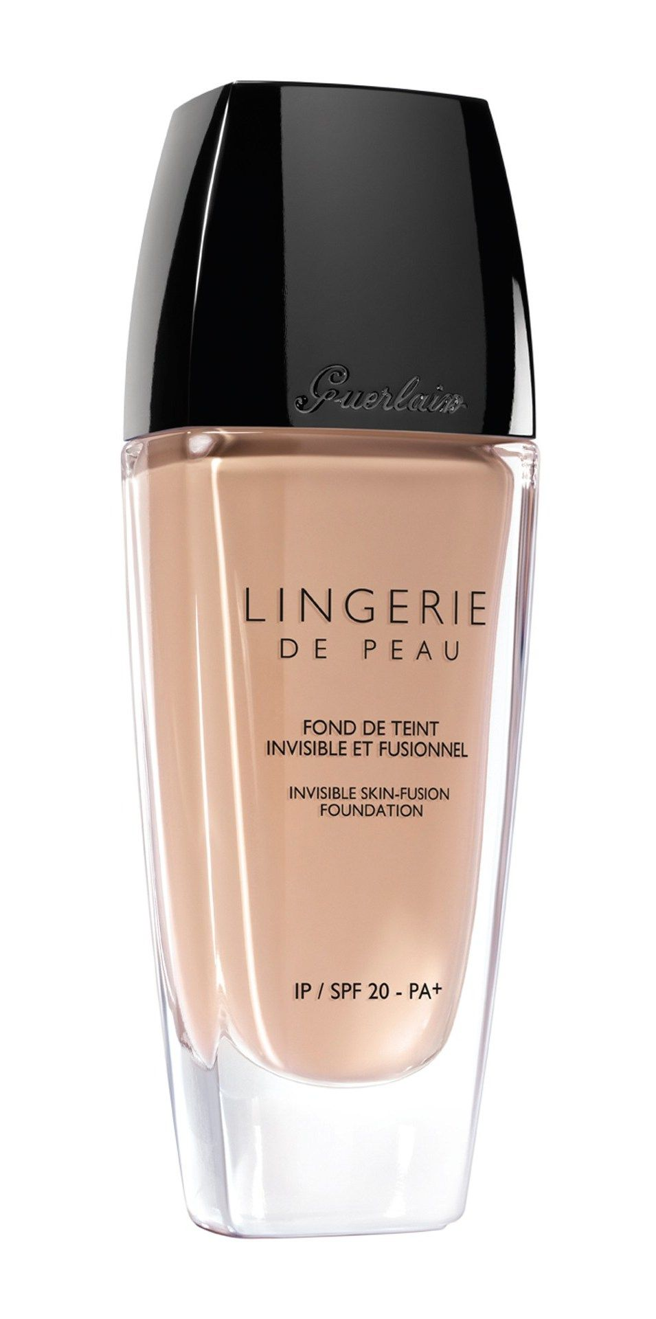 Guerlain Lingerie De Peau Invisible Skin Fusion Foundation SPF 20.Subtle and lightweight yet durable, this foundation melts into the skin and gives the impression of a flawless natural complexion.