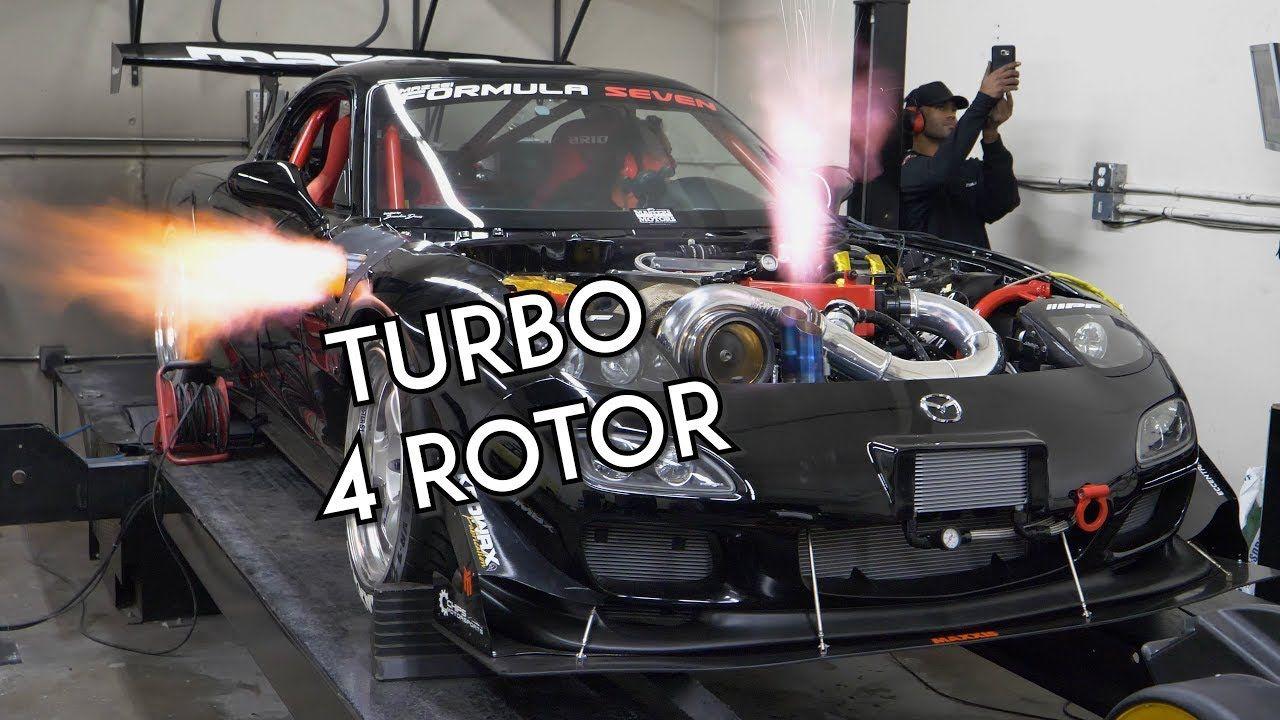 Turbo 4 Rotor Rx 7 Screams On The Dyno Mazzei Formula Mazda Rx7 Turbo Mazda