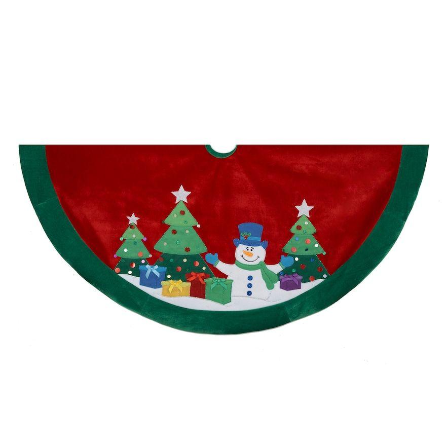 Christmas On sale Kurt Adler 48-in Snowman Christmas Tree Skirt