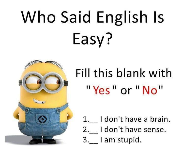 Who Said English Is Easy Funny School Jokes Some Funny Jokes
