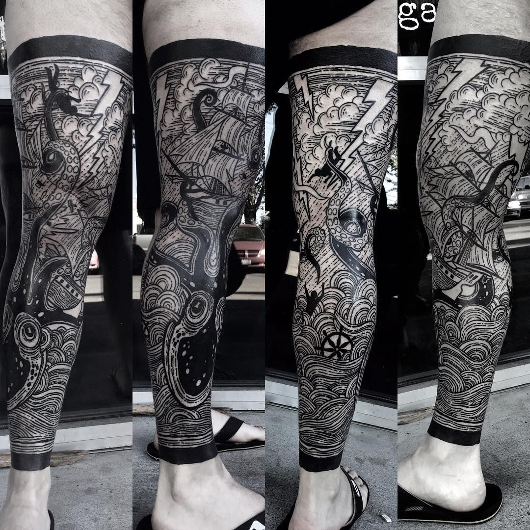 Whitney Havok Paradox Tattoo Super Fun Leg Sleeve