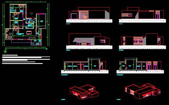 Plan Maison Moderne Dwg Gratuit Plan De Maison